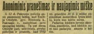 """""""Įdomus mūsų momentas"""" 1933-01-15-1"""