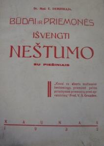 """""""Būdai ir priemonės išvengti nėštumo"""" 1932"""